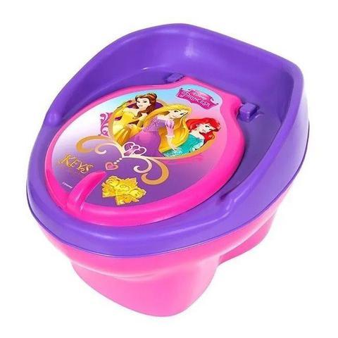 Imagem de Troninho Pinico Infantil Princesas Disney Styll Baby novo penico 2 em 1 degrau vaso sanitario