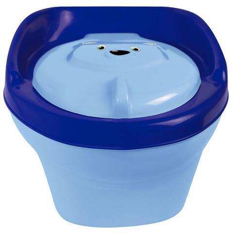 Imagem de Troninho Urso Infantil Pinico Para Bebe 2 Em 1 Azul - Styll Baby