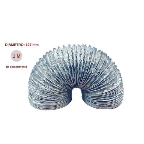 Imagem de Tubo Sanfonado Flexível Fogatti para Coifa Slim Alumínio 1M