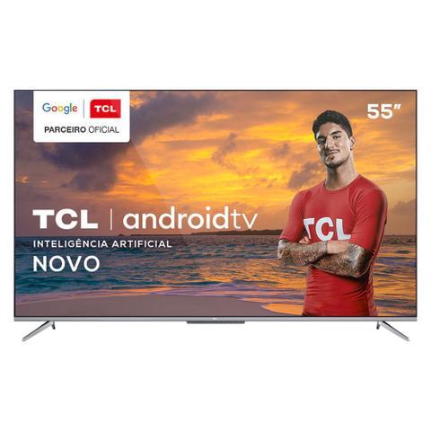 Imagem de TV 55 Polegadas TCL LED Smart 4k Android Comando de Voz 55p715
