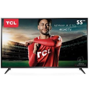 """Tv 55"""" Led TCL 4k - Ultra Hd Smart - 55p65us"""