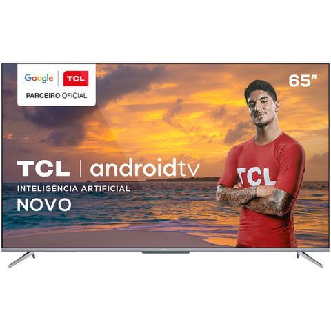 Imagem de TV 65 Polegadas TCL LED Smart 4k Android Comando de Voz 65p715