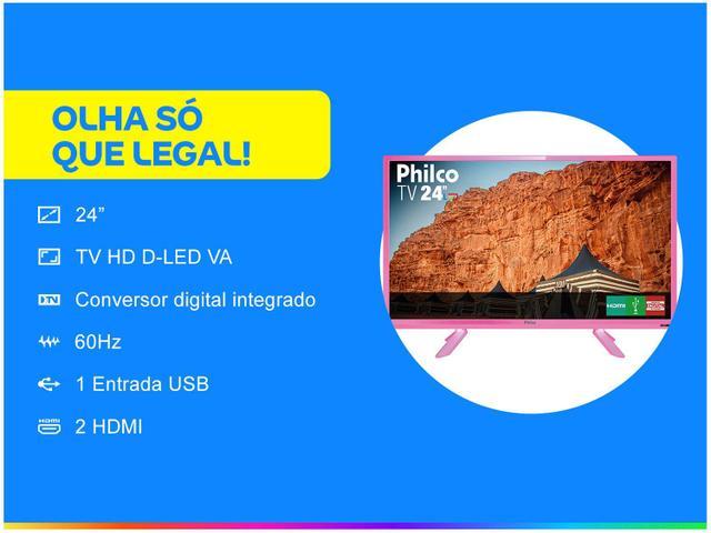"""Imagem de TV HD D-LED 24"""" Philco PTV24C10DR 2 HDMI"""