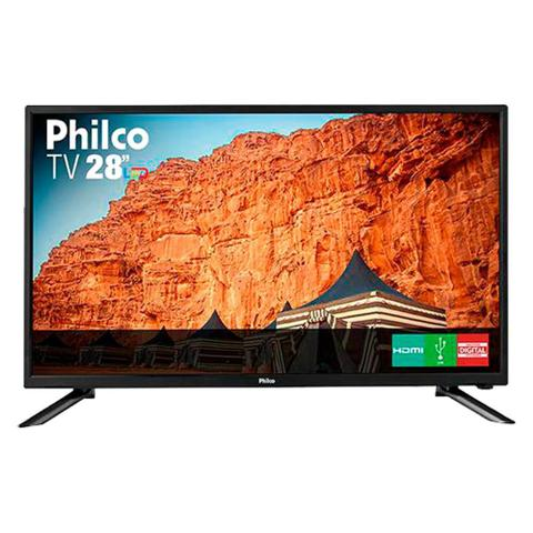 Imagem de TV LED 28 Philco PH28N91D HD com Conversor Digital USB HDMI Preta