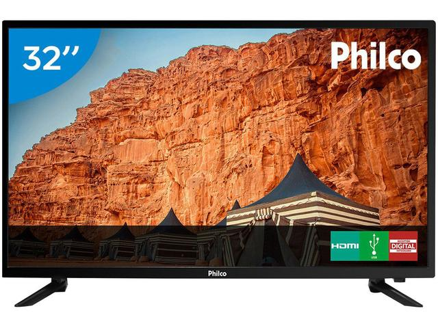 "Imagem de TV LED 32"" Philco PTV32C30D Conversor Digital"