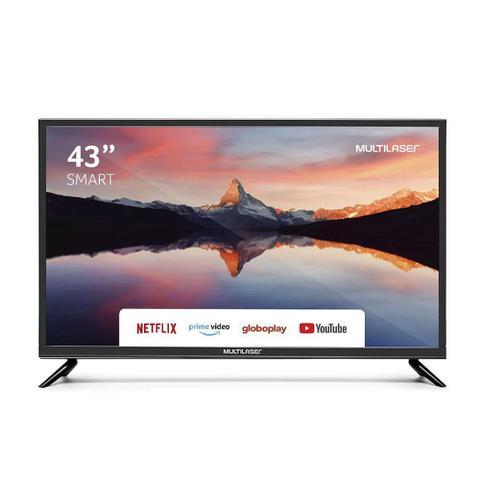 Imagem de TV Led 43 Polegadas Multilaser Full Hd Smart Hdmi Usb Wifi Tl012