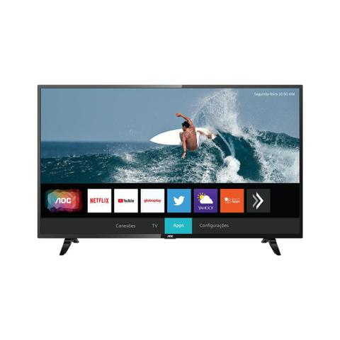 Imagem de Tv led smart roku 43 polegadas s5195/78 aoc