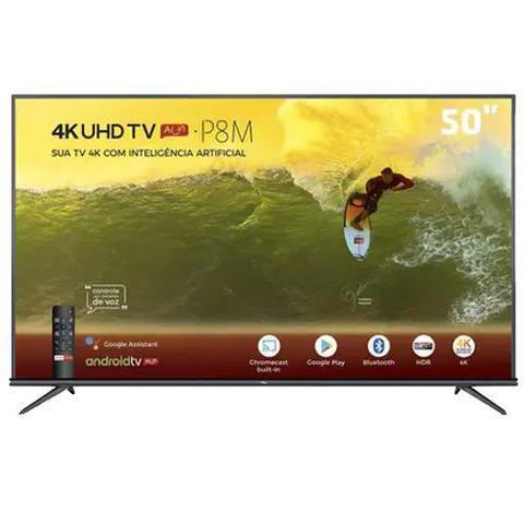 """Tv 50"""" Led TCL 4k - Ultra Hd Smart - 50p8m"""