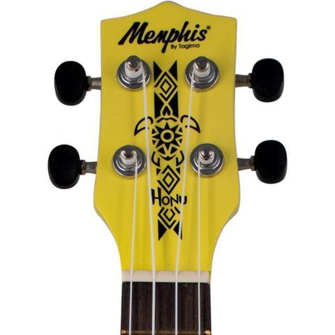 Imagem de Ukulele Soprano Tagima Honu Memphis Amarelo NYL Neon Yellow