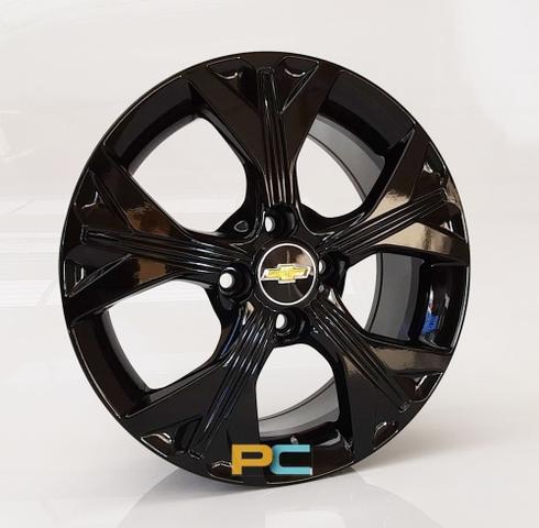 Imagem de Uma Roda Aro 14x6 Chevrolet Onix, Celta, Prisma, Cobalt, Spin Krmai S21 - Preta