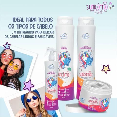 Imagem de Unicórnio kit completo 4 produtos shampoo - condicionador - máscara - leave-in spray belkit