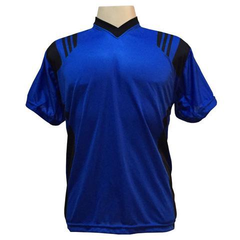 Imagem de Uniforme Completo Modelo Roma 18+1 (18 Camisas Royal Preto + d14f63527920f
