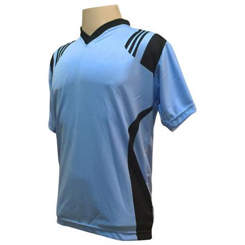 Imagem de Uniforme Completo modelo Roma 18+2 (18 Camisas Celeste Preto + dc7bf1ec666f1