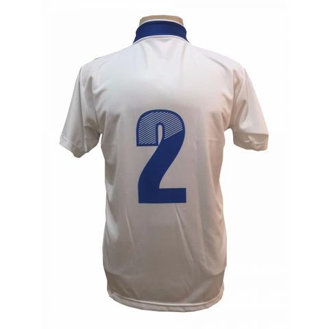 2620718e6e Imagem de Uniforme Esportivo com 14 Camisas modelo Palermo Branco Royal + 14  Calções modelo