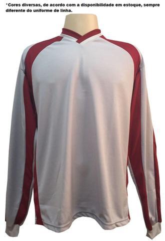 976308e6e5 Imagem de Uniforme Esportivo com 14 camisas modelo Suécia Branco Royal + 14  calções modelo