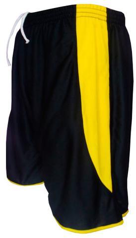 2913aa4663 Imagem de Uniforme Esportivo com 14 camisas modelo Suécia Preto Amarelo + 14  calções modelo