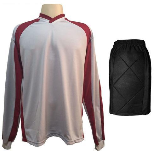 a91082b4e6 Imagem de Uniforme Esportivo com 20 camisas modelo Milan Preto Royal + 20 calções  modelo