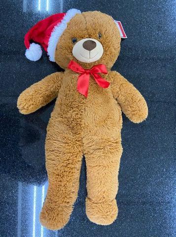 Imagem de Urso de Pelúcia 80 cm Natal Gorro Papai Noel Holiday Time