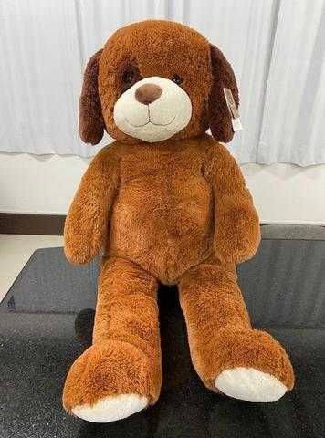 Imagem de Urso de Pelúcia Gigante 150 cm 1,50 m com orelhas marrons Max & Sax