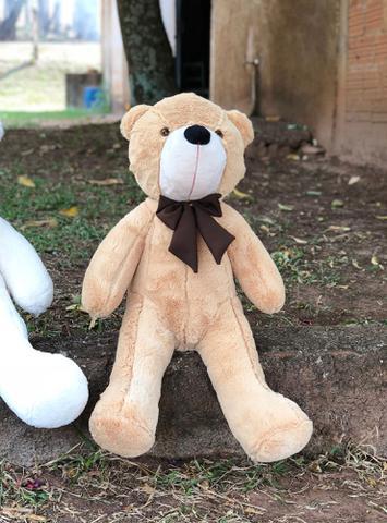 Imagem de Urso De Pelúcia Gigante Teddy 90 Cm - Grande - Laço