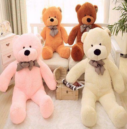 Imagem de Urso Gigante De Pelucia Teddy Bear 1,1 Metro (110cm) Cheio Branco