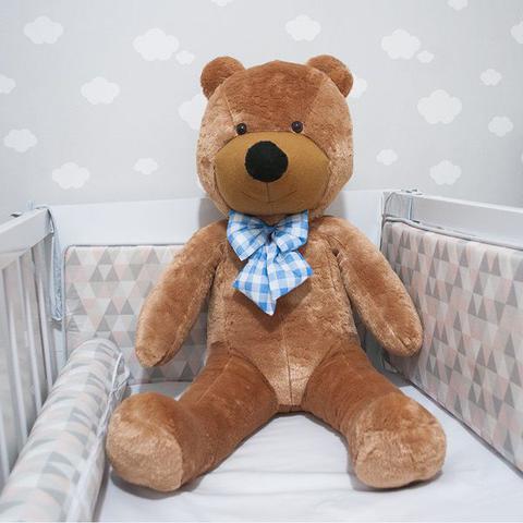 Imagem de Urso Gigante De Pelucia Teddy Bear 1,1 Metro (110cm) Cheio Marrom