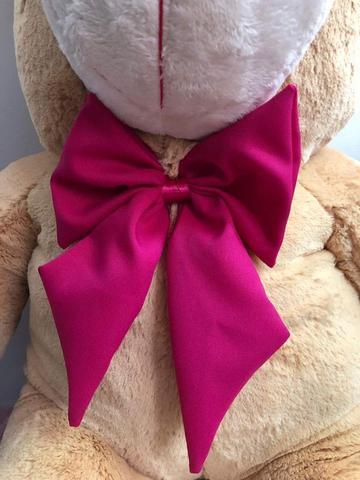 Imagem de Urso Gigante Pelúcia Grande Teddy 90 Cm - Doce de Leite com Laço Pink