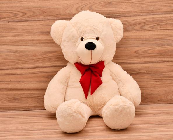 Imagem de Urso Gigante Teddy Bicho De Pelúcia 110 Cm Laco Vermelho