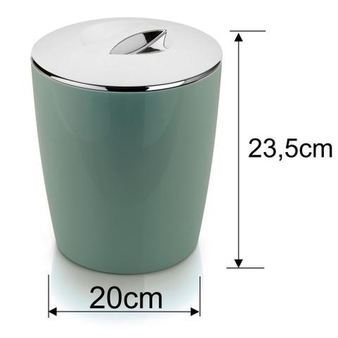 Imagem de Utensílios Higiene Banheiro Lixeira + Porta Escova Sanitária