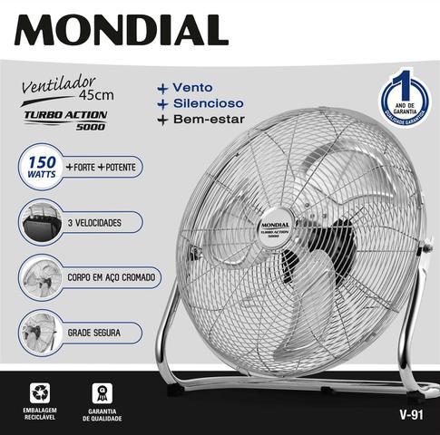 Imagem de V-91 - Ventilador de Piso Turbo Action 5000 Premium