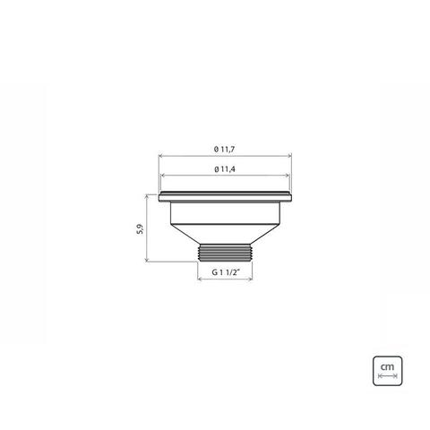 Imagem de Valvula 4 1/2 new para pias e cubas