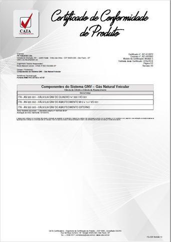 Imagem de Válvula de Abastecimento Externo GNV ITA