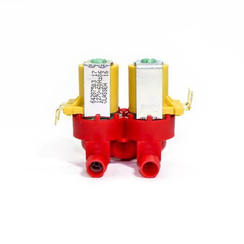 Imagem de Valvula dupla de entrada de agua lavadora electrolux 10 11 12 15 kg 127v original