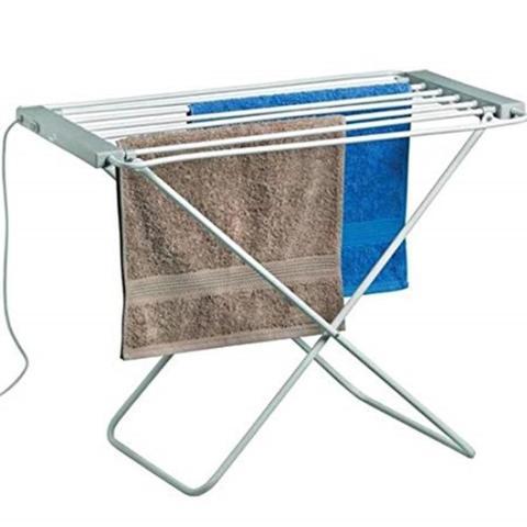 Imagem de Varal de chao aquecido toalheiro quente eletrico aquecedor secador de roupas lavanderia 220v