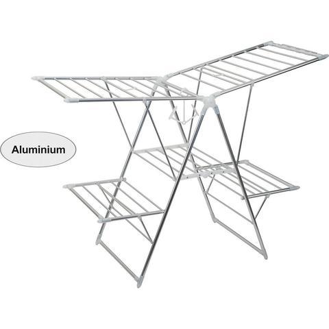 Imagem de Varal de Chão Pro Alumínio Duplo 63,5x108,5 cm
