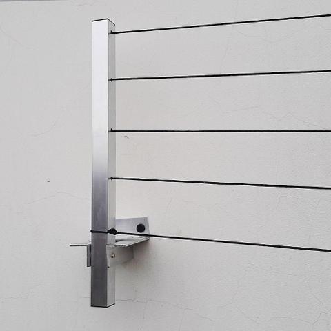 Imagem de Varal Roupa Alumínio Articulado Retratil Parede 5 Cordas