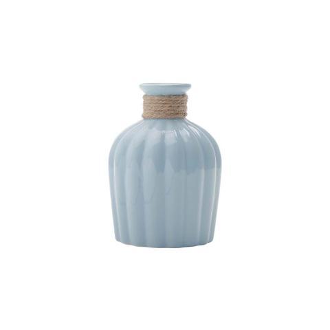 Imagem de Vaso De Cerâmica Com Acabamento Em Vidro Celo Azul Claro  - F9-30249