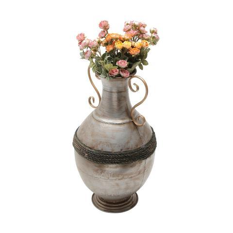 Imagem de Vaso Decorativo 45cm De Ferro Niquelado Prestige - R30184