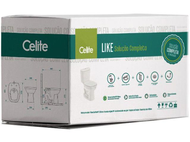 Imagem de Vaso Sanitário com Caixa Acoplada Quadrado Branco