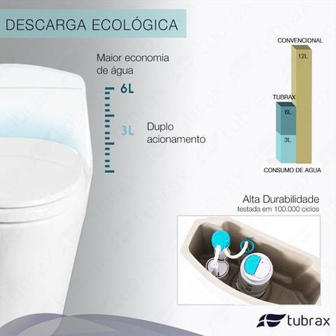 Imagem de Vaso Sanitário Monobloco Completo - Caixa Acoplada Privada modelo Acies Tubrax
