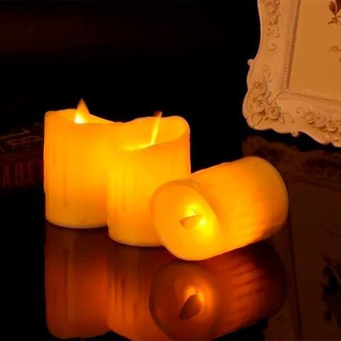 Imagem de Vela Led Decorativa Led Amarela Decorativa 9x5cm