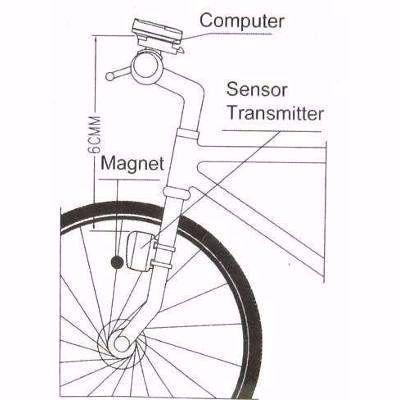 Imagem de Velocímetro Ciclo Computador 15 Funções Sem Fio Luz Noturna