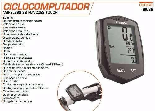 Imagem de Velocimetro Wireless P/ Bicicleta 22funcoes Atrio Bi086
