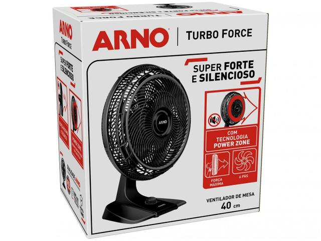 Imagem de Ventilador Arno Turbo Force VF49 3 Velocidades 40 CM Preto 127V