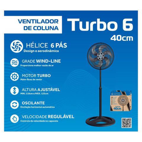 Imagem de Ventilador De Coluna Preto 40cm OSC Turbo 6 Pás 220V Ventisol