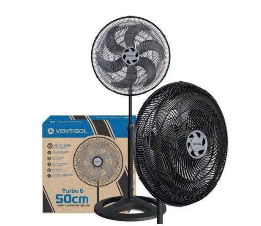 Imagem de Ventilador de Coluna Ventisol Voc Turbo 6 - 50cm 3 Velocidades - 110v