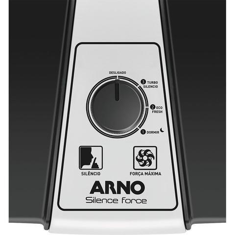 Imagem de Ventilador de Mesa 30cm Arno Silence Force VF30 60W com 3 Velocidades Preto e Prata 127V