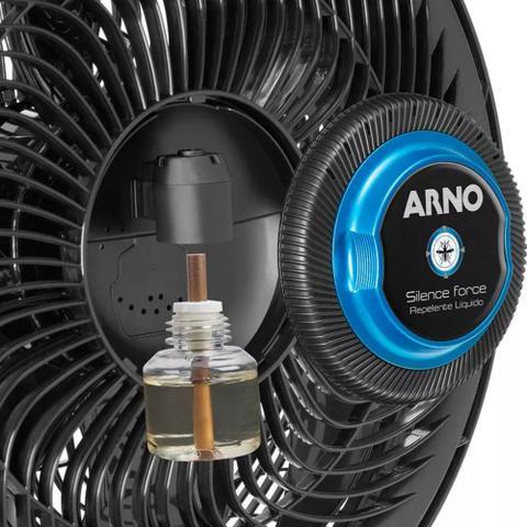 Imagem de Ventilador de Mesa 40cm Arno Silence Force VF55 Sistema Repelente Preto 220V