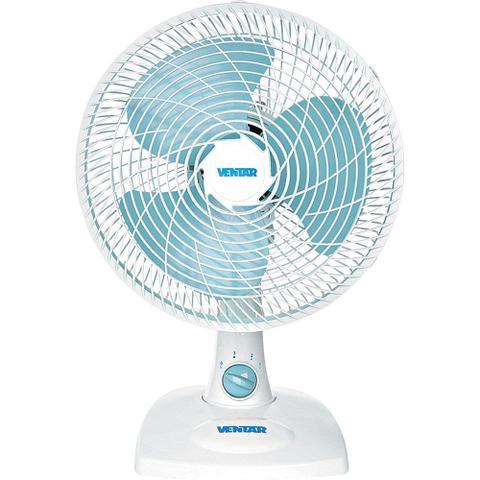 Ventilador de Mesa 3 Pás Ventar Oscilante Azul/branco 30cm - 110v - V26