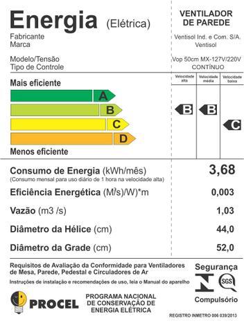 Imagem de Ventilador De Parede 50cm Ventisol Premium Branco Bivolts 200w